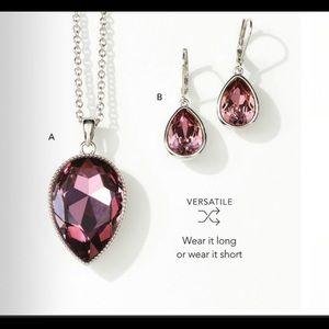 Touchstone Crystal Set in Antique pink Swarovski